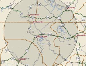 Fannin map